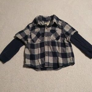 Flannel layered shirt look